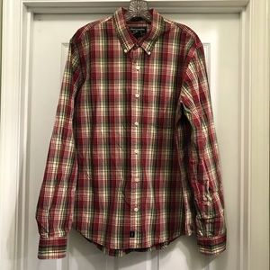 Abercrombie & Fitch Mens Button Up Shirt Size L